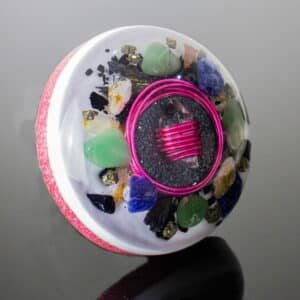 Pronta Entrega - Orgonite Meia Esfera Média Rosa 11cm