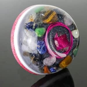 Pronta Entrega - Orgonite Meia Esfera Grande Rosa 14.5cm