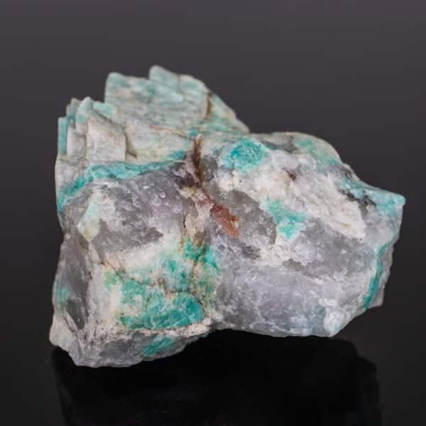 Amazonita Bruta com Cristal de Quartzo