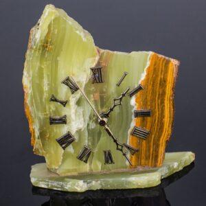 Relógio de Ônix Amarelo e Sardônia