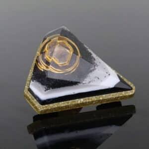 Pronta Entrega - Orgonite Mini Diamante Dourado 7.5cm